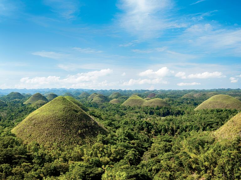 Verdant vistas above the Bohol mountains in the Philippines