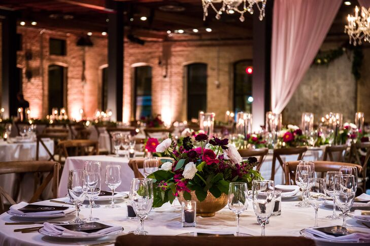 Glamorous Place Setting in Brazos Hall in Austin