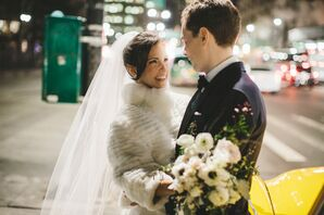 Fashionable Bride and Groom in New York City