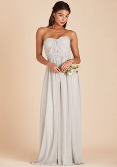 Birdy Grey Grace Convertible Dress in Dove Gray Sweetheart Bridesmaid Dress