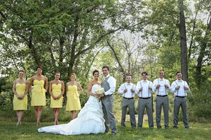 Jubilant Bridal Party Style