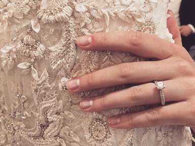 reverse French manicure from Marchesa Spring 2016 Bridal presentation