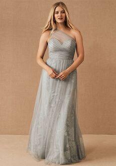 BHLDN (Bridesmaids) Phoebe Dress in Pewter One Shoulder Bridesmaid Dress