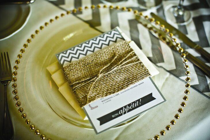 Burlap-Wrapped Menu Card