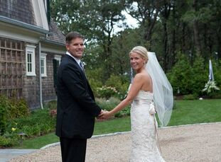 The Bride Caitlin Murphy, 33 The Groom Peter Rosbeck II, 42, a contractor The Date September 24  Caitlin's favorite color is green, so she and Peter p