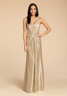 Hayley Paige Occasions 5954 V-Neck Bridesmaid Dress