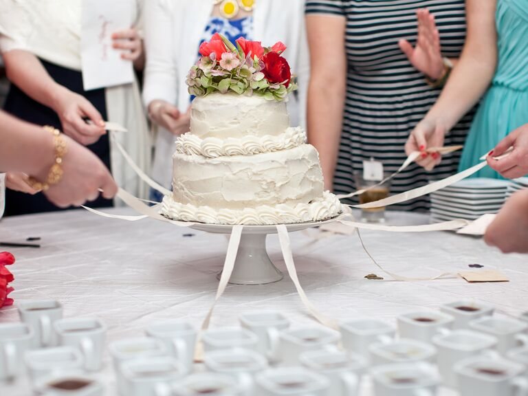 Southern wedding cake pull