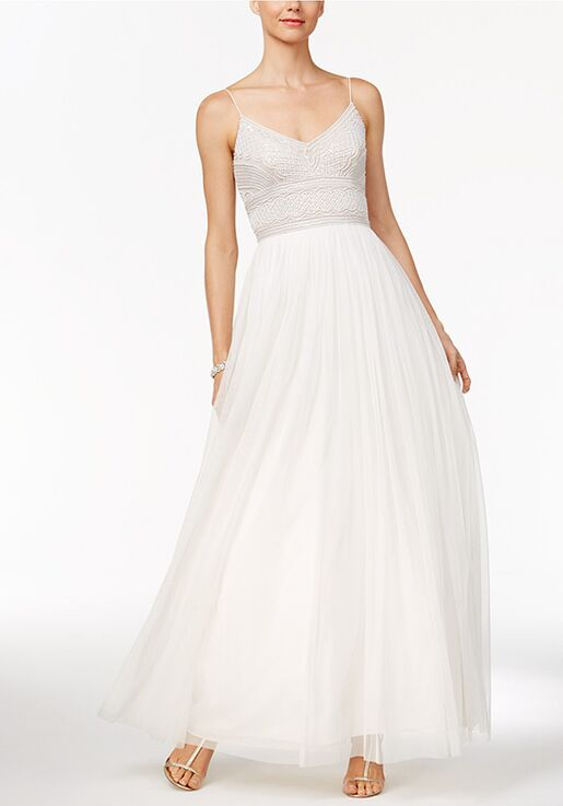 2bff59e6749 Adrianna Papell Wedding Dresses Adrianna Papell Beaded A-Line Gown- Bateau  A-Line