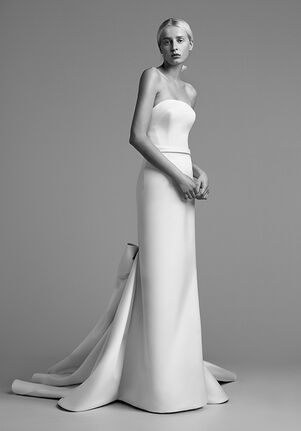 Viktor&Rolf Mariage DRAPED BOW TRAIN GOWN Sheath Wedding Dress