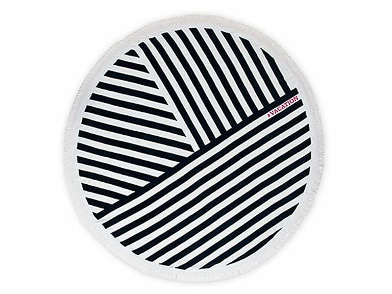 striped round beach towel