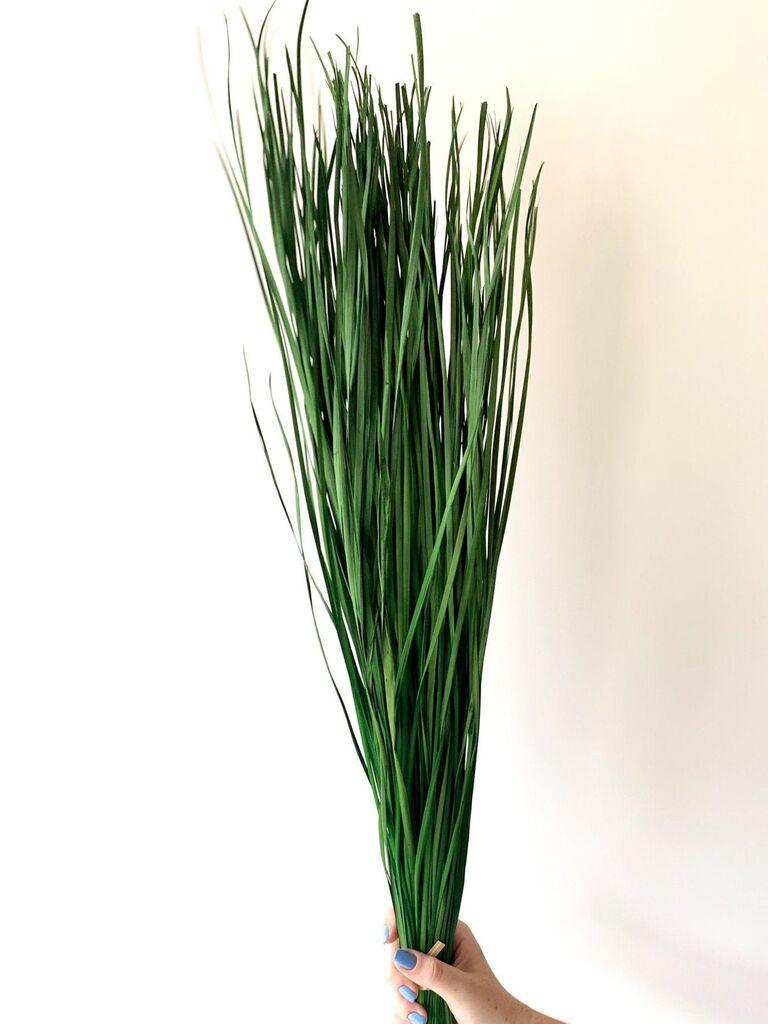 Backyard wedding ideas dried grass