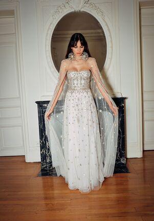 CUCCULELLI SHAHEEN White Constellation Bustier Dress A-Line Wedding Dress