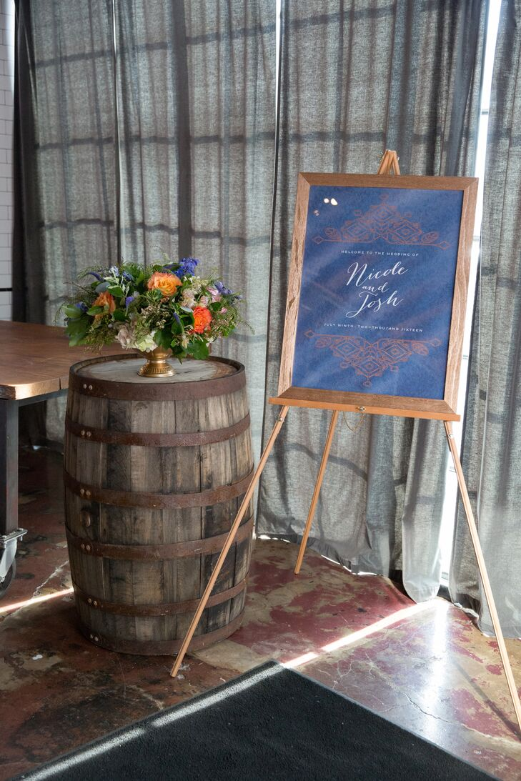 Wine Barrel Flower Arrangement Stand