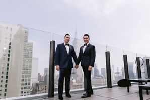 Formal Same-Sex Couple on Manhattan Rooftop