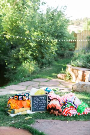 Colorful Blankets for Guests
