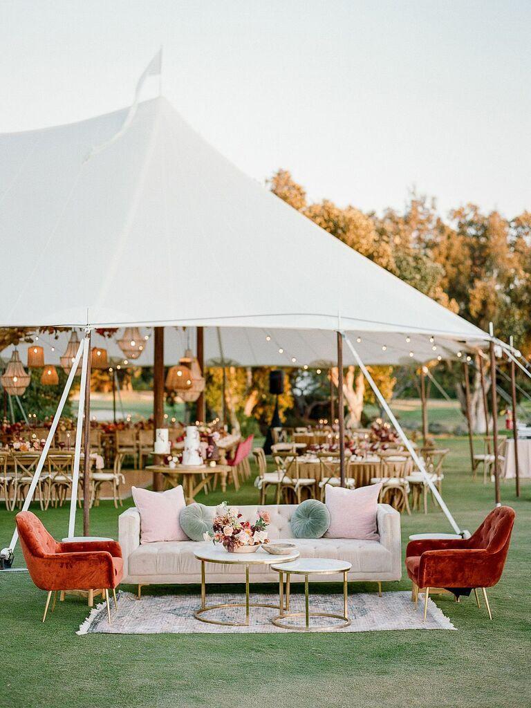 Outdoor furniture backyard wedding ideas