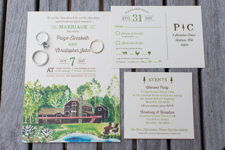 Custom Invitations with Estate Artwork