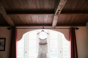 Strapless, Fitted Wedding Gown With Jeweled Belt