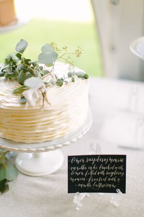 Textured One-Tier Wedding Cake