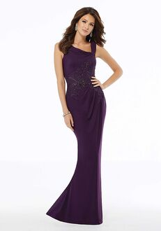 MGNY 72132 Purple Mother Of The Bride Dress