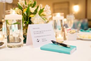 Turquoise Wedding Guest Book