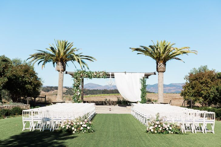 Elegant Outdoor Ceremony at Carneros Resort and Spa in Napa, CA