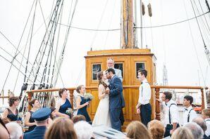 Wedding Ceremony Aboard 1877 Tall Ship Elissa