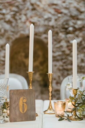 Rustic Candles and Table Numbers