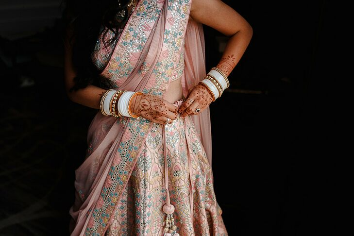 Pink Lengha for Wedding in San Sebastian, Spain