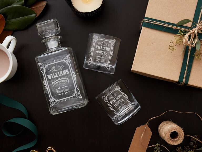 Custom decanter gift set for son-in-law