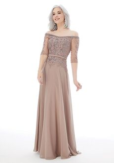 MGNY 72224 Gray Mother Of The Bride Dress
