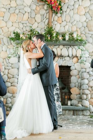 Whimsical First Kiss at Bonnet Island Estate in Manahawkin, New Jersey