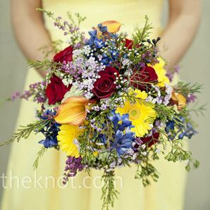 Bold Bridesmaid Bouquets