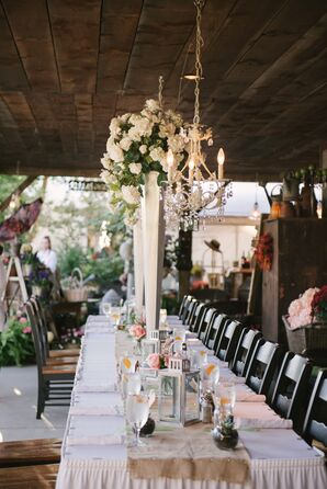 Rustic Garden Wedding Reception