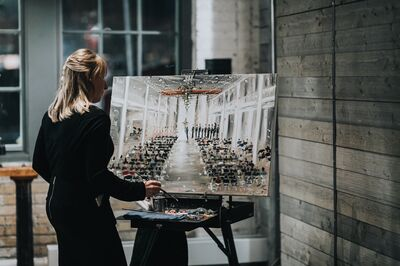 Live Wedding Painter - Leanne Larson