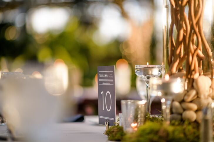 Modern Gray and White Table Numbers