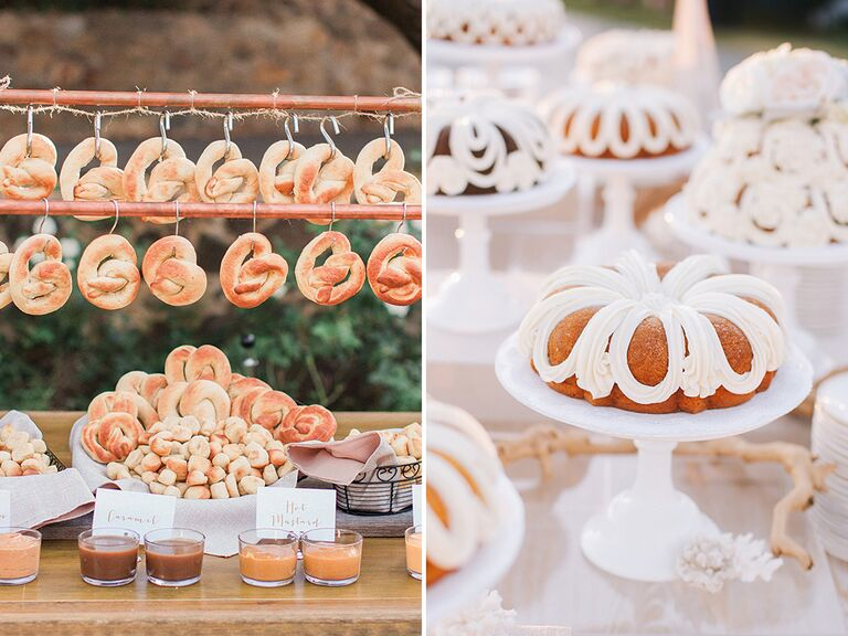 Creative wedding food bar ideas