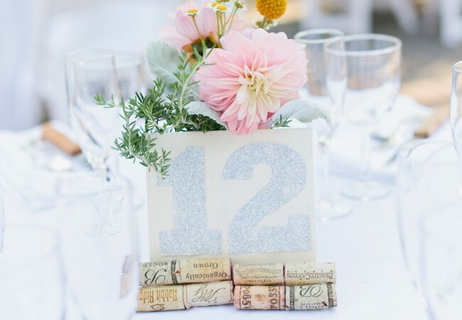 Wedding decor with wine corks: Ariane Moshayedi Photography / TheKnot.com