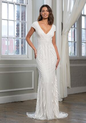 THEIA 890695 Sheath Wedding Dress