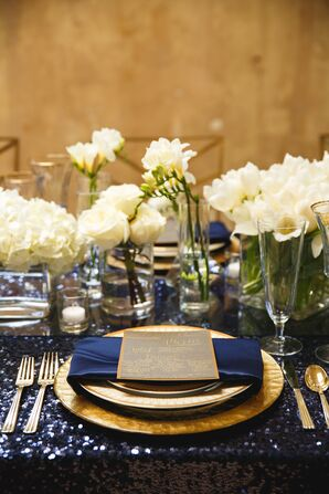 Jewel-Toned Wedding Dining Table Set