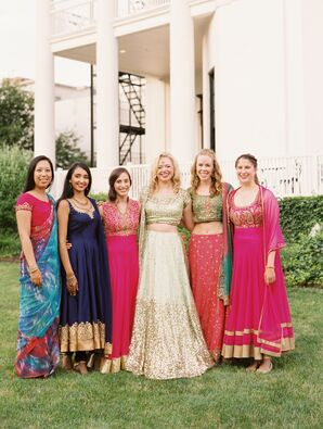 Wedding Party in Traditional Indian Attire