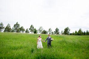 Ivory Strapless Wedding Dress With Belt