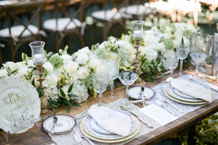 Elegant Place Settings with Vintage China