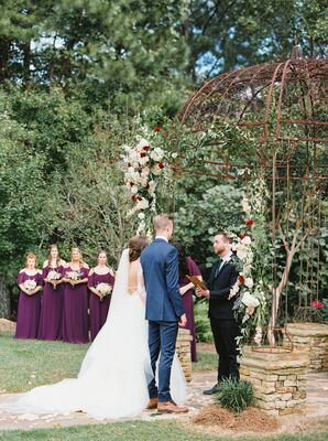 Vintage Wrought Iron Wedding Arch