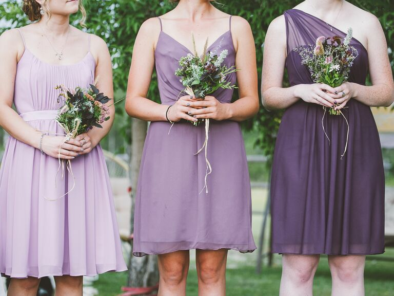 Mix And Match Purple Bridesmaid Dresses