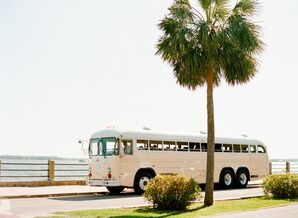 Retro Wedding Party Reception Bus