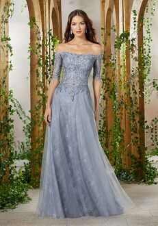 MGNY 71901 Gray Mother Of The Bride Dress