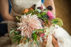 Colorful Dahlia and Wildflower Bouquet