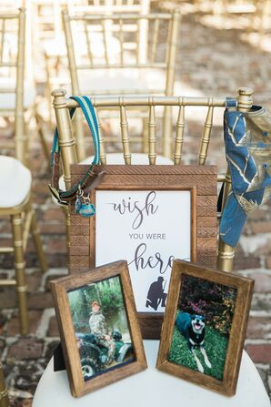 Mementos to Bride's Father and Late Dog