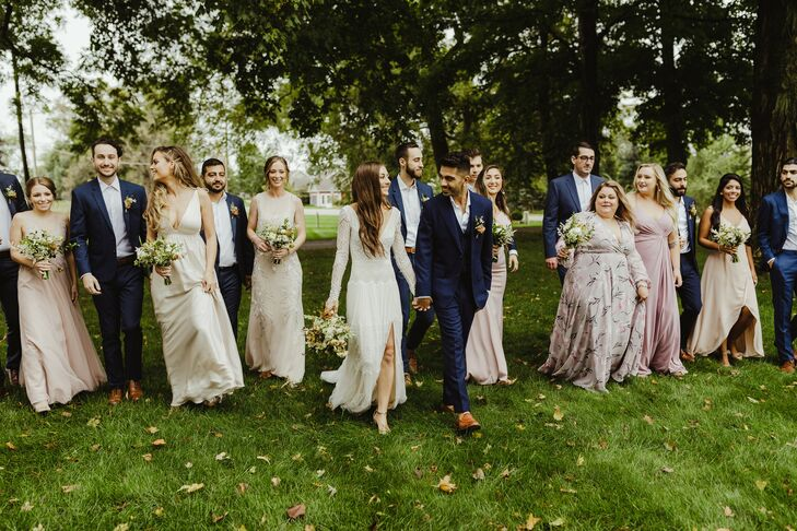 When Tiana DeVasier and Zain Mahmud started to plan their wedding, they wanted to entire aesthetic to connect seamlessly with their rustic farm venue.